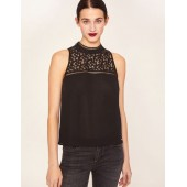 LACE YOKE SPLIT-BACK TANK