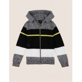 BOYS MIXED STRIPE SWEATER HOODIE