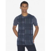 REGULAR-FIT PLAID-FRONT SPACE DYE CREW