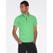 SLIM FIT PATTERNED POLO SHIRT