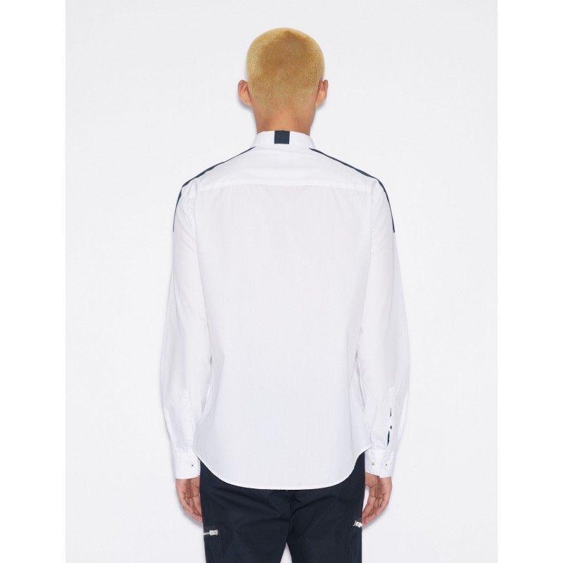 [알마니 익스체인지] SHIRT WITH CONTRASTING BAND