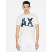 T-SHIRT WITH MAXI-LOGO PRINT