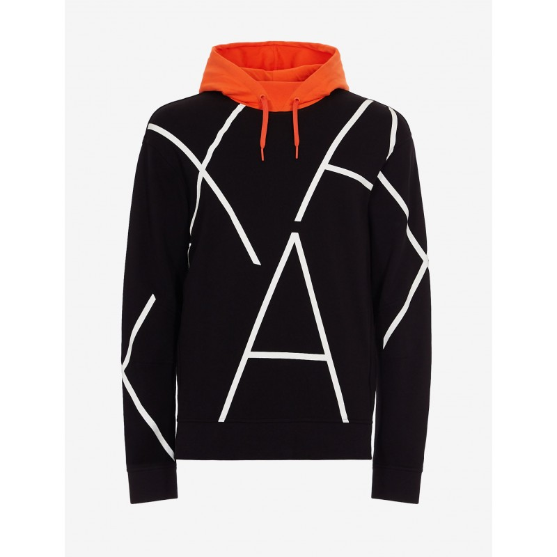 [알마니 익스체인지] SWEATSHIRT WITH CONTRASTING HOOD