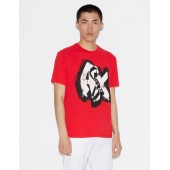T-SHIRT WITH GRAFFITI MAXI-LOGO