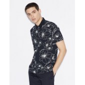 SHORT-SLEEVED PATTERNED POLO SHIRT