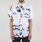 The Hundreds Dotty Woven Short Sleeve Shirt - White