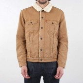 Levis Type 3 Sherpa Trucker Jacket - Desert Boots Canvas