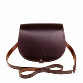 Dark Brown Leather Saddle Bag