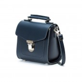 Navy Leather Sugarcube