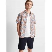 Slim Short-Sleeve Grid Shirt