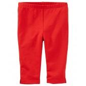OshKosh BGosh OshKosh Bgosh Little Girls Red Pedal Pusher Leggings