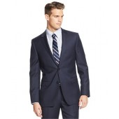 DKNY Extra Slim Fit Suit Navy Solid 2 Button Wool New Mens Suit Set