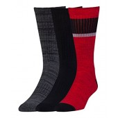 Under Armour Mens UA Twisted 2.0 Crew Socks - 3 Pack Medium Red