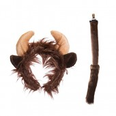 Wildlife Tree Plush Zoo Animal Ears Headband and Tail Set for Animal Costumes