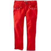 OshKosh BGosh OshKosh Bgosh Little Girls Woven Embroidered Pants (Toddler/Kid)
