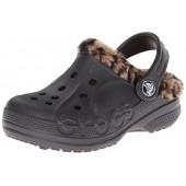 Crocs Kids Baya Leopard Lined Clog