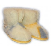Weisse Wolle Wool Warm Indoor Non-Slip Suede Sole Slippers Boots for Girls and Boys, Toddlers
