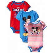 Disney Baby Boys Mickey Mouse Bodysuits (Pack of 3)