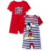 Disney Baby Boys Mickey Mouse 2 Pack Rompers
