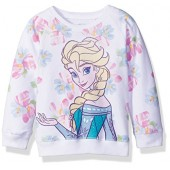Disney Toddler Girls Froze Elsa Floral All Over Print French Terry Sweatshirt