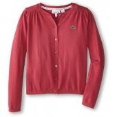 Lacoste Kids Baby Girls Cotton Wool Cardigan (Infant/Toddler/Little Kids/Big Kids) Tartine Pink Swe