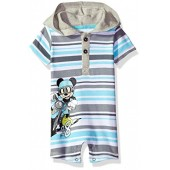 Disney Baby Boys Mickey Mouse Hooded Romper