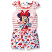 Disney Girls Minnie Mouse Floral Romper