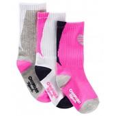 OshKosh BGosh Baby Girls 3 Pk Crew Socks (3-12 Months)