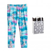 Disney Little Girls Frozen Olaf Snowflake Leggings and Bag - 2 Piece Gift Set