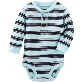 OshKosh BGosh OshKosh Bgosh Baby Boys Thermal Henley Bodysuit (Baby)