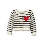 Love stripe button cardigan