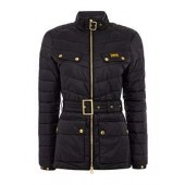Gleann Quilted Belted Jacket With Stand Collar