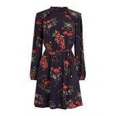 Autumn Garden Midi Blouse Dress