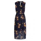 Exotique Chiffon Midi Dress