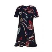 Carleea Jungle Frill Hem Dress
