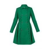 Blarnch Scallop Trim Wool Swing Coat