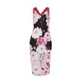 Angelie Iguaza Print Bodycon Dress