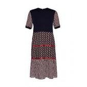Yvone Cbn Knit Woven T-shirt Dress