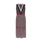 Zantia Cbn Knit Woven Midi Dress