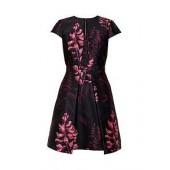 Jebby Splendour Jacquard Ruffle Dress