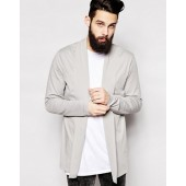 ASOS Longline Cardigan With Shawl Neck In Jersey