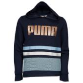 PUMA Retro Sport Pullover Hoodie - Girls Grade School