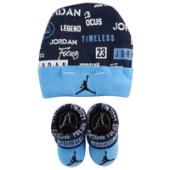 Jordan Greatness Print Hat and Bootie Set - Boys Infant
