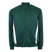 Green Track Top With Side Panel