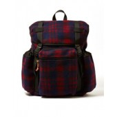 CHECK FLEECE BACKPACK