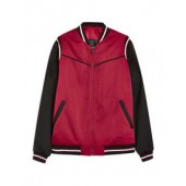 RED SMART BOMBER JACKET