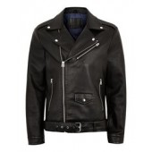 FAUX LEATHER OVERSIZED BIKER JACKET