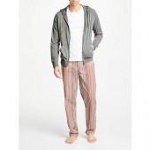 Paul Smith Loungewear Loopback Hoodie, Grey