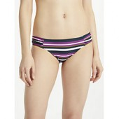 John Lewis Medina Stripe Classic Bikini Briefs, Multi