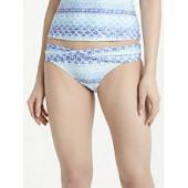 John Lewis Ombre Tile Print Twist Front Bikini Briefs, Blue